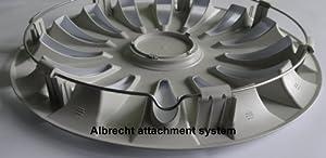 Albrecht 09514 Goal Matte Silver 14″ Wheel Cover, (Set of 4)