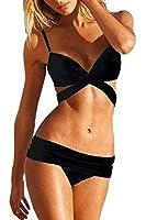 XIAOLV88 Women Sexy Straps 2PCS Swimsuit Swimwear Bikini Set Beachwear