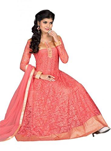 Fashion A.V.Fashion Anarkali Dress Materials (Multicolor)