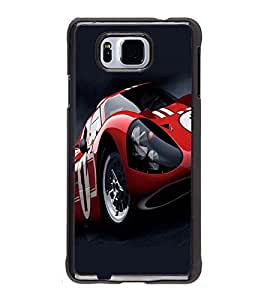 printtech Car Superfast Back Case Cover for Samsung Galaxy Alpha G850