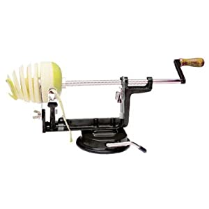 Apple And Potato Peeler, Corer, and Slicer (BLACK)
