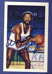 1992 Center Court WALT FRAZIER Signed HOF Postcard - Signed NBA Basketball Cards