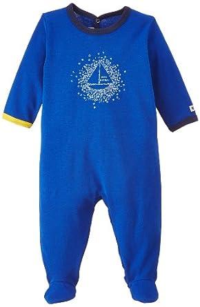 Petit Bateau - Grenouillère - Mixte bébé - Bleu (Surf) - FR: 12 mois (Taille fabricant: 12 Mois)