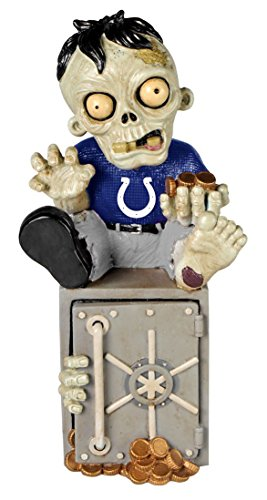 Indianapolis Colts Official NFL 14.5 inch x 9.5 inch Zombie Figurine Bank by Forever Collectibles 519944