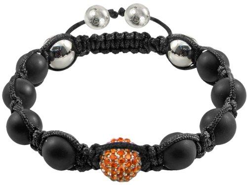Vred - Tresor Paris Bracelet - Orange Crystal & Black Diamond-set Silver - Agate - Ladies
