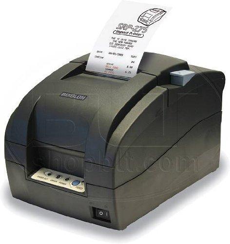 "Bixolon SRP-275IIA Impact Receipt Printer with USB Interface, 5.1 lps Print Speed, 144 dpi Print Resolution, 2-1/2"" Print Width, 24 VDC, Black"