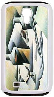 buy Rikki Knighttm Juan Gris Art Still Life With Bottles And Knives Design White Galaxy S4 Tough-It Case Cover For Galaxy S4 (Double Layer Case With Silicone Protection And Thick Front Bumper Protection)