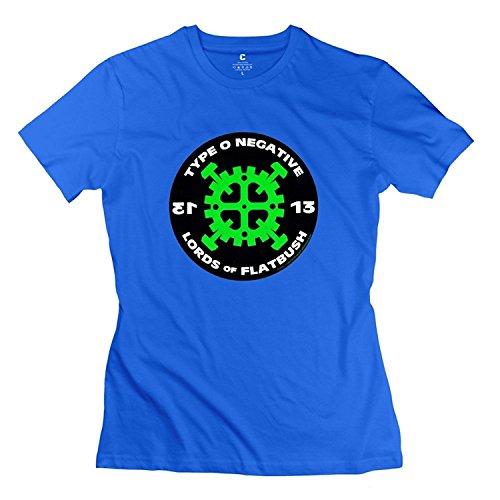 Women's Type O Negative Custom 100% Cotton RoyalBlue T-Shirts By Mjensen