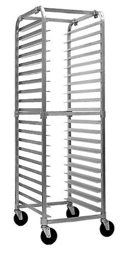 "Magna Industries 4610Kd Standard-Duty Aluminum End-Load Knock Down Rack With Stem Casters, 20-1/2"" Width X 70"" Height X 26"" Depth, 20 Shelves front-228719"