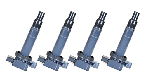 Pack of 4 Ignition Coils for Toyota Scion L4 1.5L 1.3L 2.4L Compatible with C1304 UF316 5C1293 (Toyota Yaris Coil compare prices)