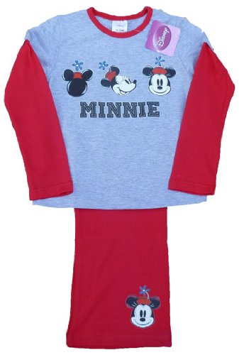 Disney Minnie Mouse Long Girls Pyjamas by ThePyjamaFactory