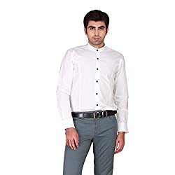 GIVO Gold Class White Structured Wedding Shirt