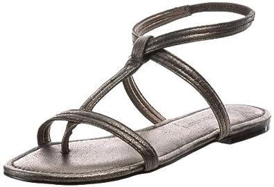HK by Heidi Klum Women's Marly Ankle-Strap Sandal,Pewter,5 M US (35 M EU)