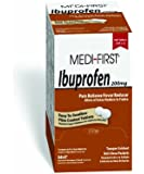 Medi-First 80813 Ibuprofen 200 Milligram Coated Tablets, 250-Packets