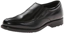 Rockport Men\'s Lead the Pack Slip-On Black WP Leather Loafer 10.5 M (D)