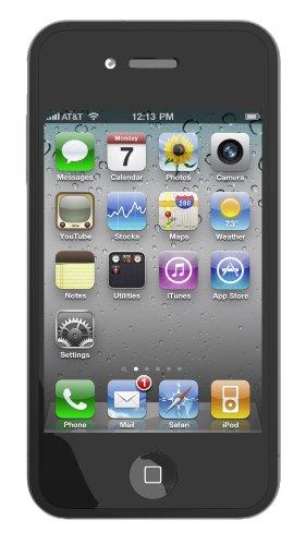Etui skin pour iPhone 4 et Protecteur d'écran - Noir