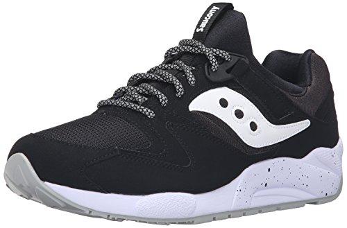 Saucony Grid 9000, Sneaker a Collo Basso Uomo, Nero (Black/White), 40 EU