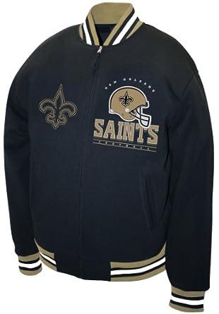 NFL Mens New Orleans Saints Hardknock Fleece Jacket by MTC Marketing, Inc