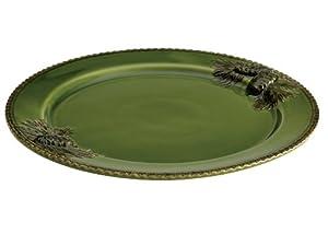 Paula Deen Signature Dinnerware Southern Pine 12-Inch Round Platter, Green
