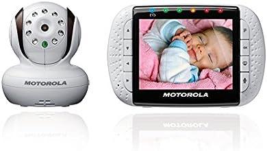 """Motorola MBP36 - Vigilabebés digital de audio y video de 3,5"""", color blanco"""