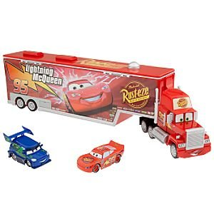 Disney Cars Mack Car Carrier Plus Lightning McQueen and DJ Vehicles