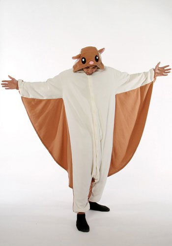 Flying Squirrel Kigurumi - Adult Halloween Costumes Pajama