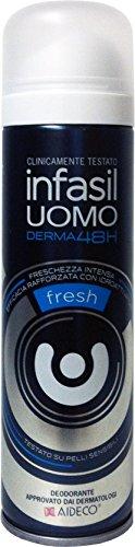 6 x INFASIL Deo Persona Spray Uomo Fresh 150 Ml