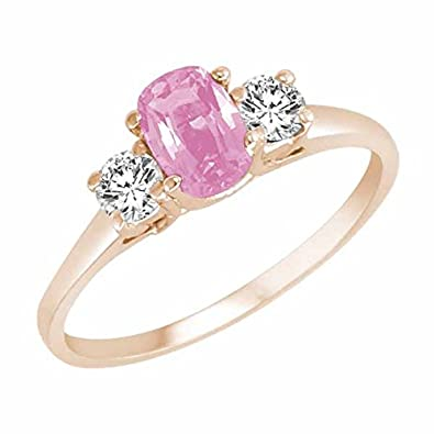 Ryan Jonathan Cushion Pink Tourmaline and Diamond Ring in 14K White Gold