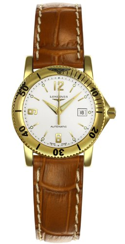 Longines Admiral Automatic 18kt Gold Womens Watch L3.120.6.16.9