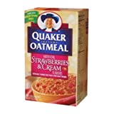 Quaker Instant Oatmeal Strawberries & Cream 404g