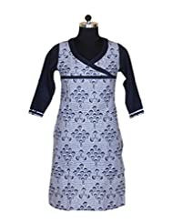 Visaga Women's Cotton Straight Kurti - B00UL8UU7Y