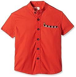 UFO Boys' Shirt (AW16-WB-BKT-228_Red_12 - 13 years)
