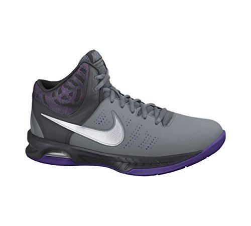 Men's Nike Air Visi Pro VI Basketball Shoe Cool Grey/Anthracite/Court Purple/White Size 11 M US