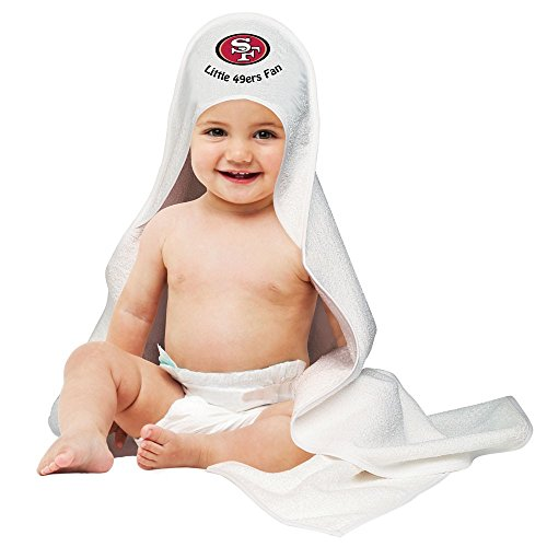 Nfl San Francisco 49Ers White Hooded Baby Towel front-701535