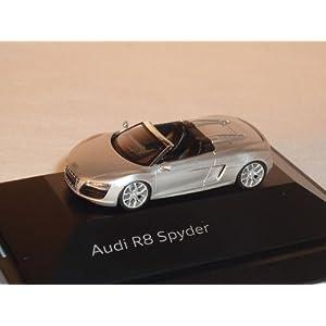 AUDI R8 R 8 SPYDER CABRIO EIS SILBER HO H0 1/87 HERPA MODELLAUTO MODELL AUTO
