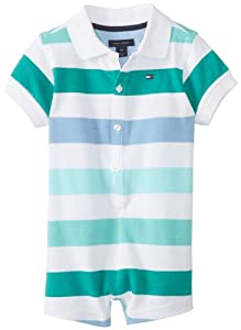 Tommy Hilfiger Baby-Boys Infant Short Sleeve Shawn Polo Romper by Tommy Hilfiger