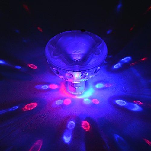 Sakiyr 5 Light Modes Floating Bathroom LED Light for Kids Water Light Show (Bathroom Tub Light compare prices)