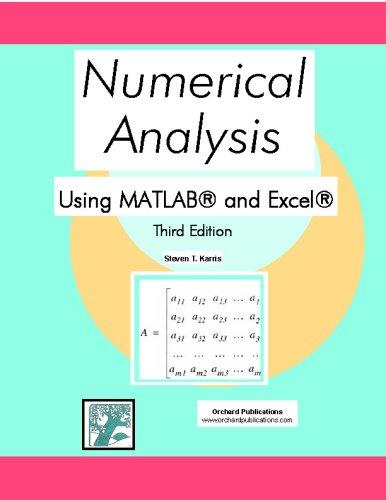 利用MATLAB和Excel 进行数值分析(第三版)