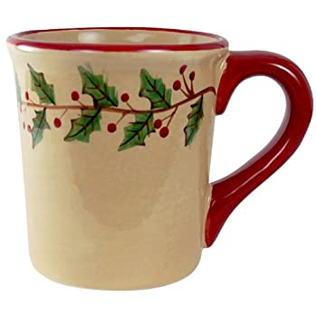 Hand-Painted Holly Mug