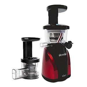 Best Slow Motion Juicer : Amazon.com: Tribest SW-2000-B Slowstar vertical Slow Cold Press Juicer and Mincer, Red/Black ...
