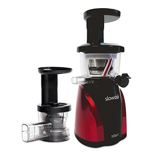 Tribest SW-2000-B Slowstar Vertical Slow Cold Press Juicer and Mincer, Red/Black (Masticating Juicer Vertical compare prices)