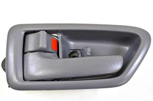 PT Auto Warehouse TO-2562G-LS - Inside Interior Inner Door Handle/Trim, Gray - Driver Side (Driver Door Handle 98 Camry compare prices)