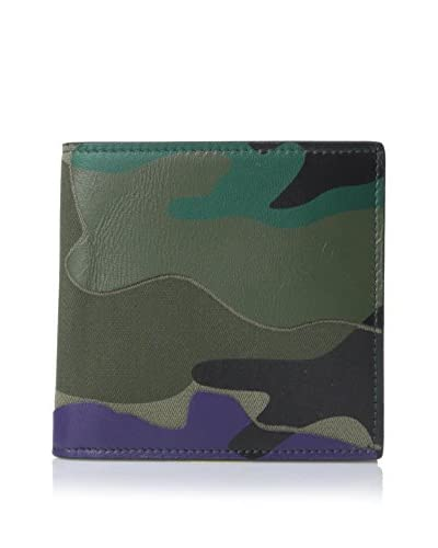 Valentino Men's Camouflage Canvas & Leather Bifold Wallet, Multicolor