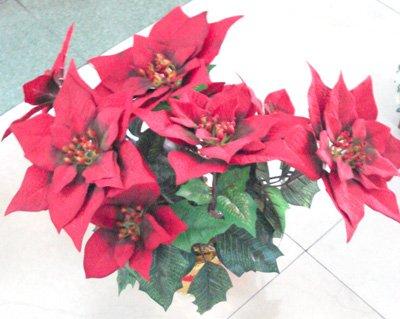 Stella Di Natale Artificiale.Pianta Addobbo Natalizio Stella Di Natale Artificiale