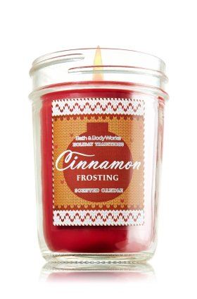 Bath & Body Works Holiday Traditions Cinnamon Frosting Scented Mason Jar Candle