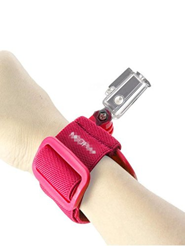 Fnkaf Superb Quality Elastic Fibre And Polycarbonate Buckle Fixed Wrist Strap Red