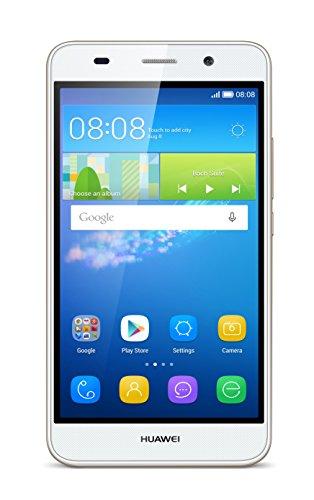 Huawei Y6 (2GB) Smartphone Dual SIM, Display 5 Pollici, 2 GB RAM, 8 GB Memoria, Android 5.1, Bianco