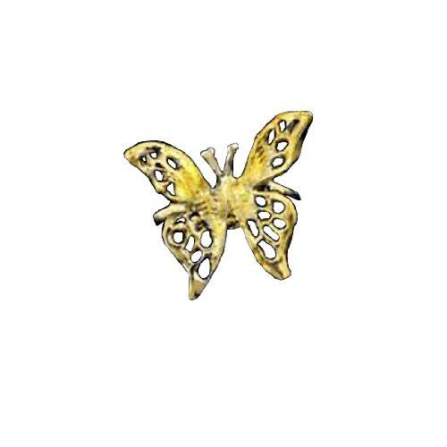Right Only Gold Vermeil Pierceless 3D Open Butterfly Ear Cuff