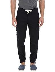 Zobello Men's Cuff Jogger Cargo Pants(31081B22_Navy_33)