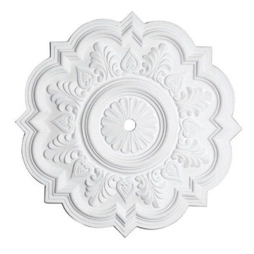 Capital Lighting 79477 Queen Anne 21-Inch Ceiling Medallion, Paintable White Finish